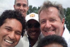 Tendulkar Admits He is No 'Match' to Piers Morgan