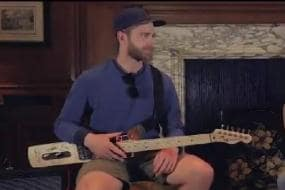 Williamson Turns Bat Into a Guitar For Fun Session