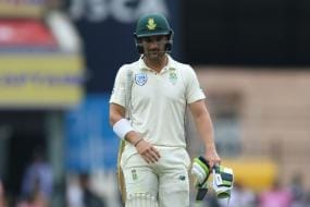 South Africa's Dean Elgar Adamant He Didn't Hit Ball after Controversial Dismissal