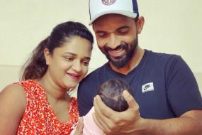 Ajinkya Rahane Shares First Picture With New-born Daughter