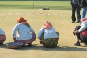 India vs Australia: Women Clean Rajkot Wicket Manually; Fans Slam Ganguly & BCCI