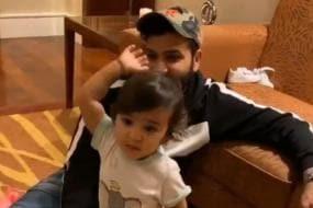 Rohit Sharma's Daughter Imitates Jasprit Bumrah's Bowling Action