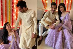 Yuzvendra Chahal Gets Engaged to Dhanashree Verma; See Pics