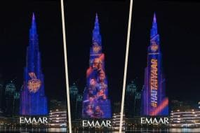 IPL 2020: Burj Khalifa Lights up in Kolkata Knight Riders Colours Ahead of Tournament Opener