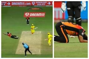 WATCH: Sandeep Sharma's Insane Catching Effort off His Own Bowling