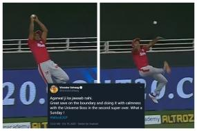 WATCH: Mayank Agarwal's Superhuman Save that Sealed the Super-over Win For KXIP