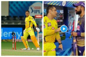 WATCH | After Dismissing MS Dhoni Twice; Varun Chakravarthy Takes Tips From CSK Skipper