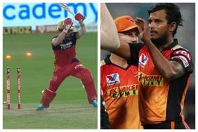 WATCH | AB de Villiers Has No Answer to T Natarajan's Sensational Yorker; Twitter Hails the Yorker King
