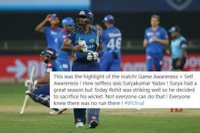 Twitter Hails Suryakumar Yadav's 'Selfless Act' of Sacrificing his Wicket To Save Rohit Sharma