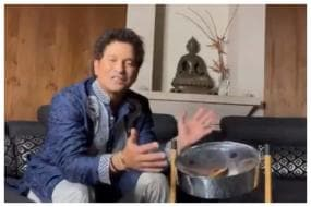 Watch: Sachin Tendulkar Plays Steel Drum Gifted by West Indies Team to Pay Tribute