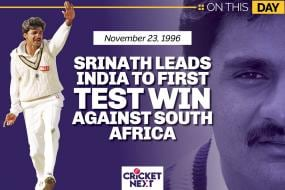 On This Day: November 23, 1996 - Javagal Srinath Leads India to First Test Win Against South Africa