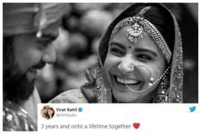 Virat Kohli Posts Heartwarming Message for Anushka Sharma on 3rd Wedding Anniversary