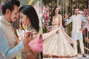 Yuzvendra Chahal & Dhanashree Verma's Engagement Photos Go Viral on Social Media