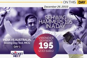 On This Day, December 26 2003: A Virender Sehwag Masterclass on Boxing Day at Melbourne