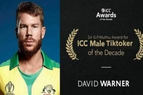 David Warner Bags 'Sir GP Muthu Award for Male Tiktoker of the Decade'