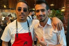 Yuzvendra Chahal and Dhanashree Verma Meet 'Salt Bae' in Dubai
