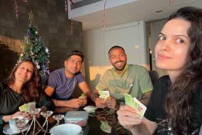 Hardik Pandya Kills Time Playing Cards with Wife Natasa Stankovic & Family