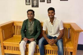 A Beaming Washington Sundar Shares Photos of His Meeting with AR Rahman