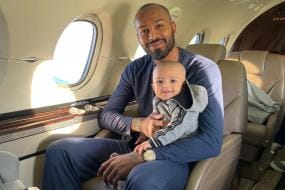Hardik Pandya Shares Adorable Picture of Son Agastya's First Flight