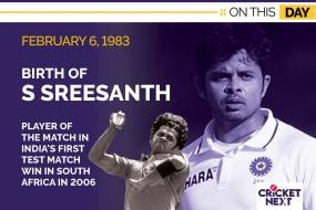 On This Day: February 6, 1983 - Birth of India Fast Bowler S Sreesanth