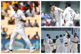 India vs England 2021: In Pics-Indian Spinners Run Through England at Chepauk