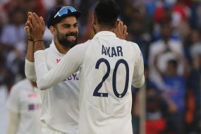In Pics - Rohit Sharma Shines with Bat After Axar Patel's Six-For on Day 1 at Motera