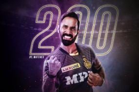 IPL 2021: Dinesh Karthik Becomes Only the Third Player to Play 200 IPL Games