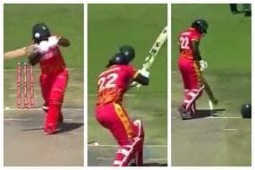 PAK vs ZIM T20I: Arshad Iqbal's Bouncer Smashes Batsman's Helmet in Two