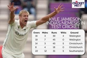 WTC Final: Kyle Jamieson Continues To Be India's Nemesis With The Red Ball