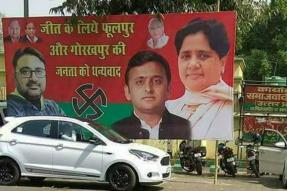 Days After Bypoll Win, Akhilesh-Mayawati Poster Put up Outside SP Headquarters