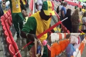 Football Fans from Japan and Senegal Stayed Back to Clean Up World Cup Stadiums