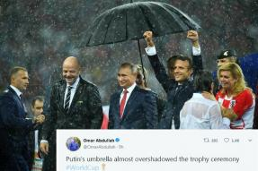 France May Have Won the FIFA World Cup, But Putin's Umbrella was the Real Show Stealer