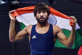 Bajrang Punia Wins India's 1st Gold Medal at Asian Wrestling Championships
