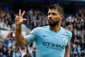 Aguero Hat-trick as Free-scoring City Rout Huddersfield