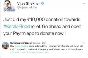 Twitter Slams India's Youngest Billionaire, Paytm Founder, For Donating Rs 10,000 to Kerala Flood Relief