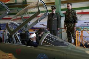 President Rouhani in the Cockpit as Iran Unveils New Domestic Fighter Jet