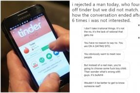 'Why be on a Dating Site'? Man Trolls Woman for Saying No on Tinder but Twitter Schools him