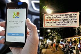 Go Back, Not Baga: A Banner in Goa is Advising Tourists to Not Follow Google Maps