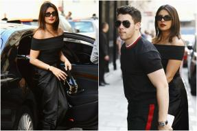 Priyanka Chopra-Nick Jonas Twin in Black for An Evening in Paris