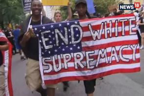 Charlottesville Anniversary Protest: Counter-Protesters Outnumber White Supremacists at DC Rally