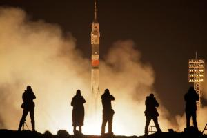 Russia Launches Manned Spacecraft to International Space Station
