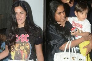 Katrina Kaif Spotted Chilling with Arpita Khan and Baby Ahil