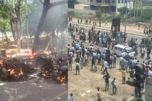 PICS: Anti-Sterlite Protest Turns Violent in Tamil Nadu's Tuticorin