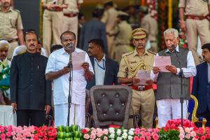 HD Kumaraswamy Takes Oath as Karnataka Chief Minister