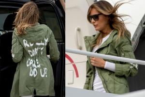 Mrs Trump's 'I really don't care, do u?' Jacket Causes Stir Online