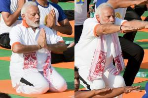 Yoga Day 2018: PM Narendra Modi Performs Yoga Asanas in Dehradun
