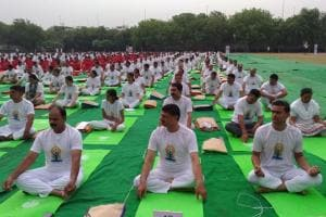 In Pictures: International Yoga Day 2018 Celebrations