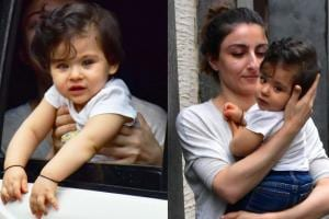 Cute Pics of Soha Ali Khan With Her Little Princess Inaaya Kemmu