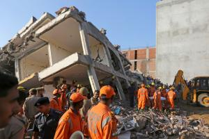 PHOTOS: Building Collapses in Greater Noida; 3 Killed