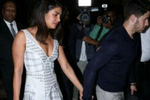 PICS: Nick Jonas, Priyanka Chopra Step Out For a Romantic Dinner